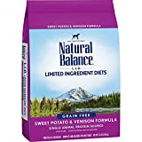 Natural Balance L.I.D. Limited Ingredient Diets Dry Dog Food, Grain Free, Sweet Potato & Venison Formula, 13-Pound