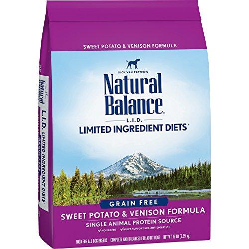 Natural Balance L.I.D. Limited Ingredient Diets Dry Dog Food, Grain Free, Sweet Potato & Venison Formula, 13-Pound