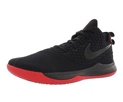 f4d20e45bbcb3 NIKE Mens Lebron Witness III Basketball Shoe (7 M US, Black/University Red