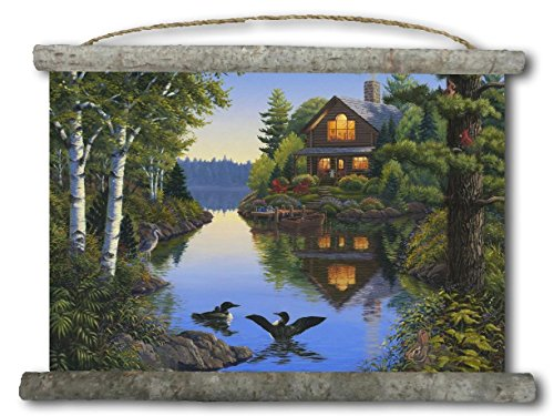 WGI-GALLERY WC-LC-2518 Lake Cabin Canvas Wall Scroll ()
