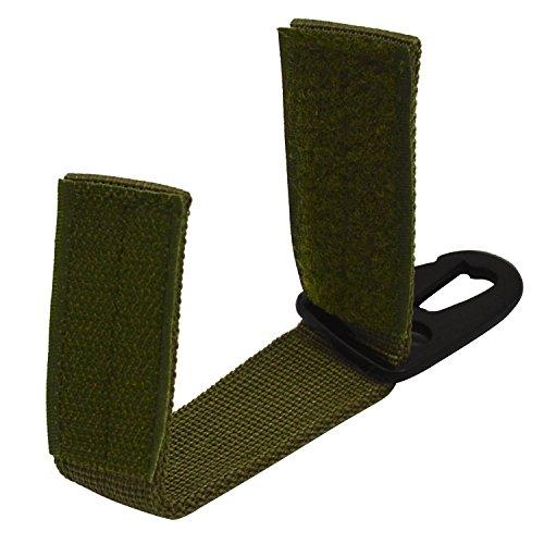 Freien Taktisches Nylonmaterial Strap für 5cm Gürtel Molle Taschen Schlüsselanhänger Schlüsselanhänger Hängende Karabiner,Multi Purpose Grün