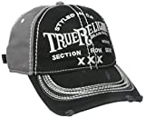 True Religion Men's Triple X Baseball Cap, Black, One Size