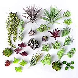 35 Gorgeous Artificial Succulent Plants Curated by Designers for Cohesive Colors, Most Realistic Fake Succulent Plants Available, Largest Set of Succulents 2