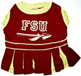Florida State Seminoles Dog Cheer Leading Dress & Leash Set Size XS