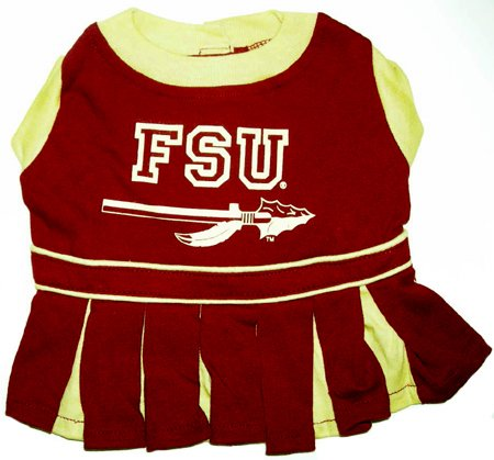 Florida State Seminoles Dog Cheer Leading Dress & Leash Set Size SM