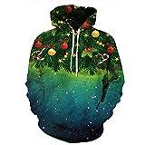 Snlydtan Unisex Casual Christmas Sweatshirt Hoodies Clothing