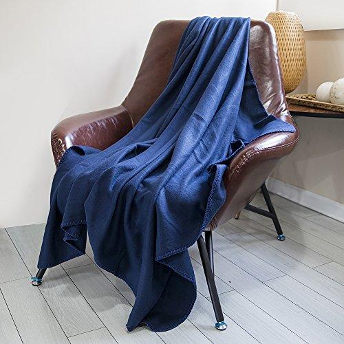 DOZZZ Fleece Couch Throw Oversized Microfiber Solid Light We