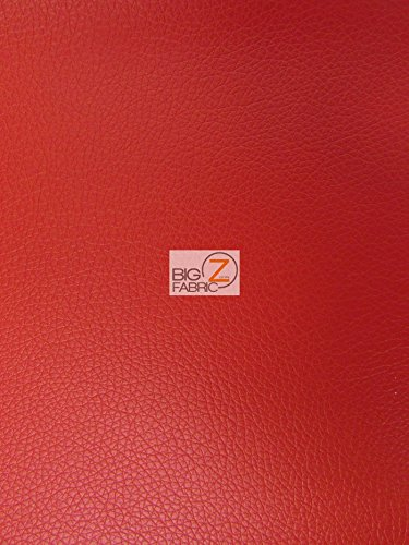 """VINYL FAUX FAKE LEATHER PLEATHER KENTAKY TEXTURE SOFT PVC FABRIC - Red - 53"""" WIDTH SOLD BY THE YARD"""