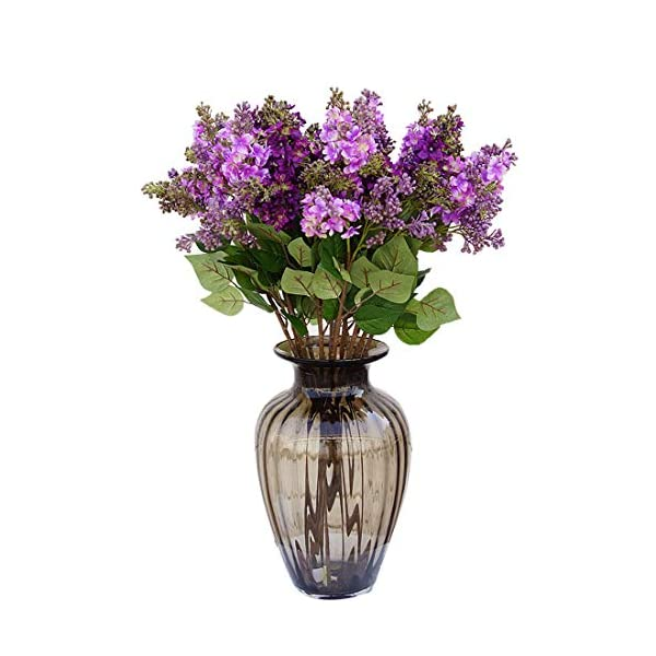 "Calcifer 10 Stems (3 Branches/Stem) 27.56"" Artificial Lilac/Syringa vulgaris L. Bouquet Artificial Flowers for Wedding Party Home Garden Office Shop Decoration (Purple)"