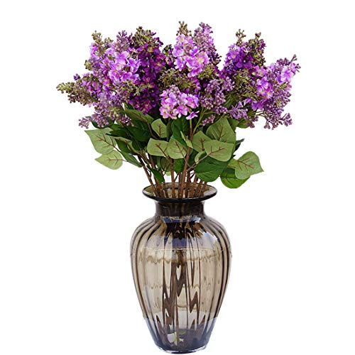 - Calcifer 10 Stems (3 Branches/Stem) 27.56'' Artificial Lilac/Syringa vulgaris L. Bouquet Artificial Flowers for Wedding Party Home Garden Office Shop Decoration (Purple)