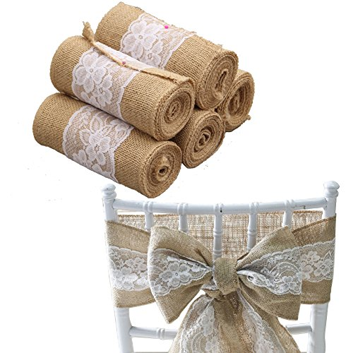 (Brave Tour Linen Back Bows Wedding Venue Decoration Table Flag (15 × 240 cm / 5.9 × 94.5 in, White))