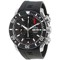 Edox Men's 01114 3 NIN Class 1 Automatic Chronograph Black Dial Rubber Watch
