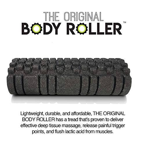 The Original Body Roller High Density Foam Roller Massager for Deep Tissue Massage of The/ Back and Leg Muscles Self Myofascial Release of Painful Trigger Point Muscle Adhesions
