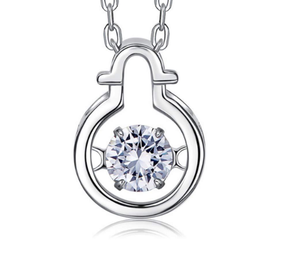 QWERST女性ネックレススターリングシルバー星座人格ペンダントファッションエレガントな絶妙なネックレス最高の贈り物   B07M7MGRX3