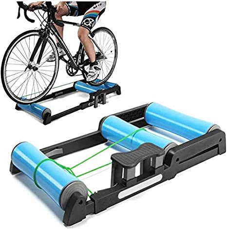 HULKWHEELS Foldable Bike Trainer Rollers 5 Resistance Setting Indoor Bicycle Exercise Workout Outdoor Trainning Cycling Stationary Mountain /& Road Bike Portable Cycling Trainer