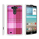 lg g pro 2 case - LG Vista Phone Cover, Lightweight Snap On Armor Hard Case with Cute Design Collage for LG G Vista D631, LG G Pro 2 VS880 by MINITURTLE - Plaid Pink