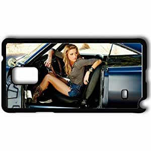 Personalized Samsung Note 4 Cell phone Case/Cover Skin Amber Heard Black by icecream design