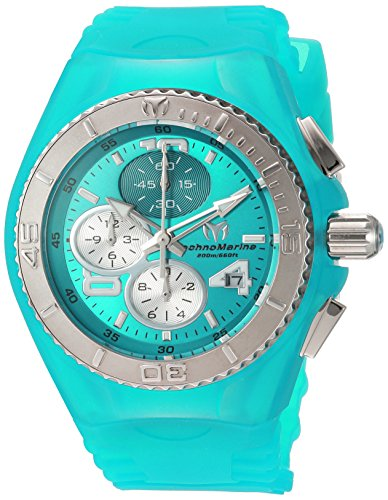 Technomarine Women's 'Cruise Jellyfish' Quartz Stainless Steel and Silicone Casual Watch, Color:Blue (Model: TM-115106) (Steel New Technomarine Chronograph Stainless)