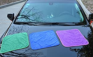 HOPESHINE Microfiber Car Cleaning Cloths Ultra Soft Buffing Wax Polish Towels Thick Car Wash Auto Detailing Towel