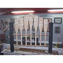 Nautical queen size custom headboard, Paddle headboard, Coastal headboard, Cottage Headboard, Shabby chic Headboard,