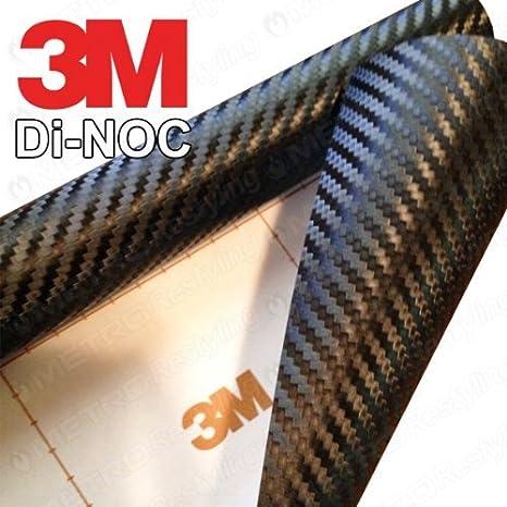 """3M DI-NOC CA-421 BLACK Carbon Fiber Vinyl Sheet Wrap Film 12/"""""""