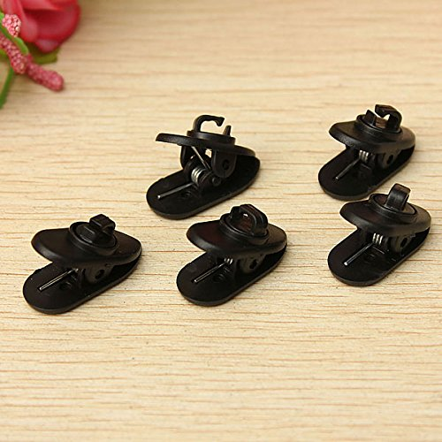 ELEGIANT 5 Cable Wire Cord Lapel Clip Organizer Nip Clamp Holder Mount Collar+Rotate Mount for Lavalier Mic Headphone Headset Earphone