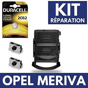 Carcasa llave caja para mando a distancia Plip Opel Meriva ✚ Switch ✚ 2 interruptores Switch ✚ pila Duracell CR2032