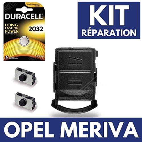 Coque Clef Boitier pour Té lé commande Plip OPEL Meriva ✚ Switch ✚ 2 Interrupteurs Switch ✚ Pile CR2032 Duracell iRace Keys