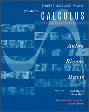 Calculus Early Transcendentals Student Resource Manual
