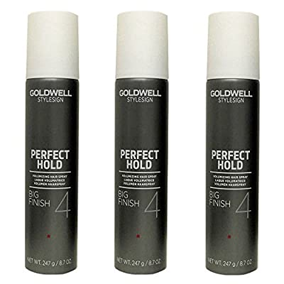 Goldwell Stylesign 4 Perfect Hold Big Finish Volumizing Hair Spray 8.7 oz. - 3 Pack