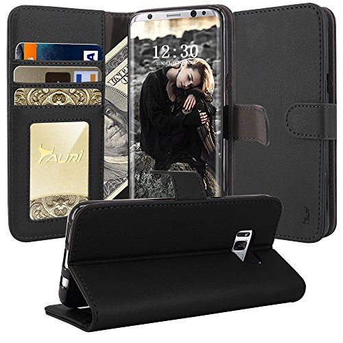 Galaxy S8 Plus Case, TAURI [Stand Feature] Wallet Leather Case with Card Pockets Protective Flip Cover For Samsung Galaxy S8 Plus