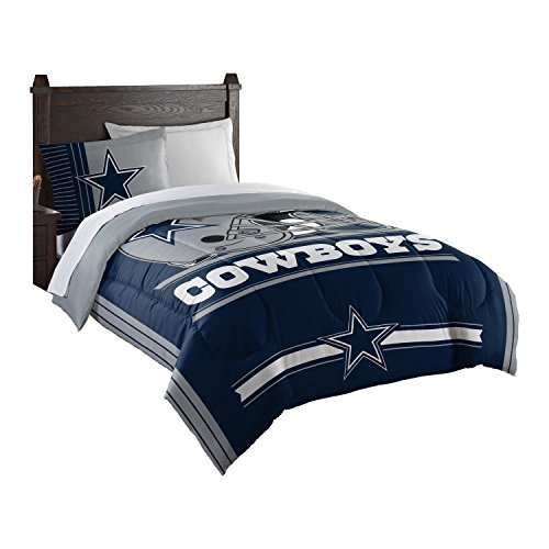 Officially Licensed NFL Dallas Cowboys Safety Twin Comforter and Sham