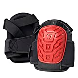 Gamba Tools JR. GEL SOFTEES Small Sized Professional Knee Pads for Work & Gardening with Heavy Duty EVA Foam & Layered Gel, Durable Rubber Shell & Easy to Adjust Straps, Red