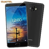 Telefono Cellulare, OUKITEL K8000 4G Smartphone Batteria 8000mAh 5,5 Pollici AMOLED HD Display 16MP+2MP Telecamere Posteriori 13MP Fotocamera Frontale MT6750T Octa-core 4GB RAM + 64GB ROM Impronta Digitale Android 7.0 Doppia SIM