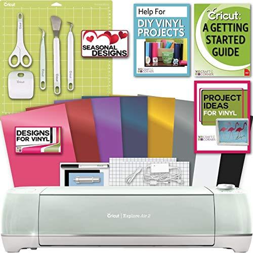 Cricut Explore Air 2 Machine Bundle - Tool Kit, Vinyl Pack,