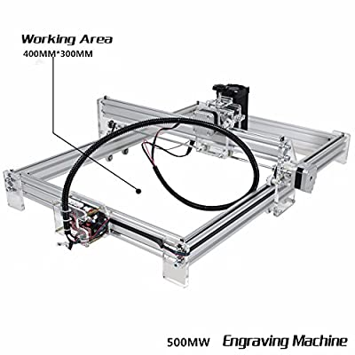 Fosa 500mW Laser Engraver Printer Desktop DIY Laser Engraving Cutting Machine CNC Printer aluminium alloy and acrylic Material 4030cm Working Area