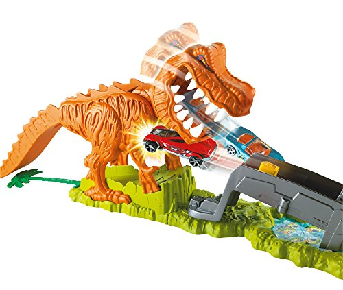 hot wheels t rex takedown playset new. Black Bedroom Furniture Sets. Home Design Ideas