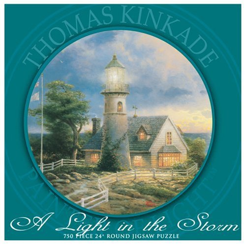 UPC 021081294324, 750 Piece Thomas Kinkade Round Puzzle A Light In the Storm