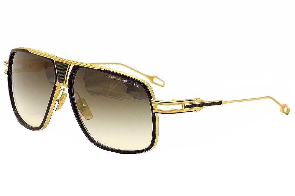 bc73efad565 Amazon.com  Dita Grandmaster Five DRX-2077B DRX2077B Navy 18K Gold Pilot  Sunglasses 64mm  Dita  Shoes
