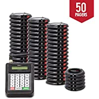 Long Range Paging System, Restaurant Pager Coaster Style ,Red LED Lights (Set of 50) Beeper System