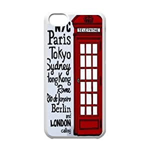 {Telephone Booth Series} IPhone 5C Cases the Red Telephone Box, Case Zachcolo - White