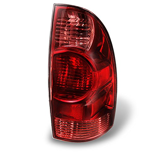 (For Toyota Tacoma Pickup Truck Red Clear Tail Lights Rear Brake Lamps Replacement Passenger Right Side)