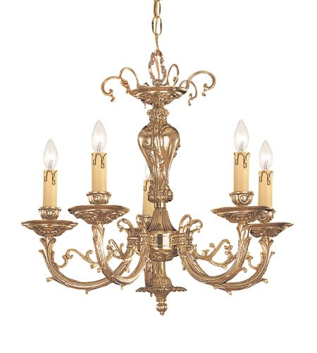 Chandeliers 5 Light With Olde Brass Cast 20 inch 300 Watts - World of Lighting