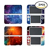 #6: UUShop 2 Pack Protective Vinyl Skin Sticker Cover Wrap for New Nintendo 3DS XL / LL Nebula Light Galaxy 2 in 1