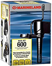 Marineland Maxi-Jet 600, Multi-Use Water Pump And Power Head, Fully Convertible (ML90510), 160/750 GPH