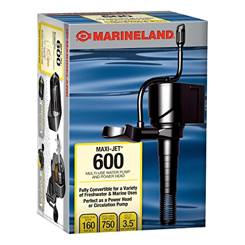 MarineLand Maxi-Jet 600 Pro Pump for Aquariums 3 in 1, 160/750 max GPH