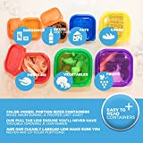 21 Day Portion Control Diet Container Set LABELED Portion Control Set (7 Piece) Autumn Diet Fix Kit + Meal Plan Guide - BPA Free Food Storage Containers Lose Weight