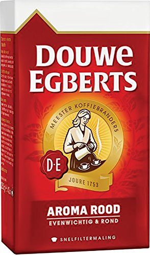 Douwe Egberts Ground Coffee - Douwe Egberts Aroma Rood Ground Coffee, 17.6-Ounce, 500 gm (Pack of 2)