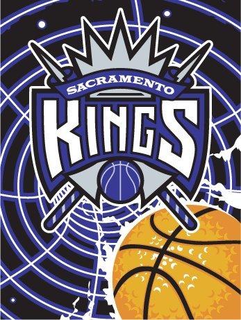 Sacramento Kings Blanket Twin Acrylic Oversize Royal Plush Raschel Throw