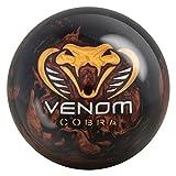 Motiv Venom Cobra Bowling Ball, Black Bronze Pearl with Gold Silver, 16 lb